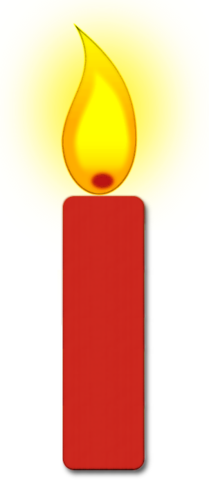 Burning candle . Candles clipart single