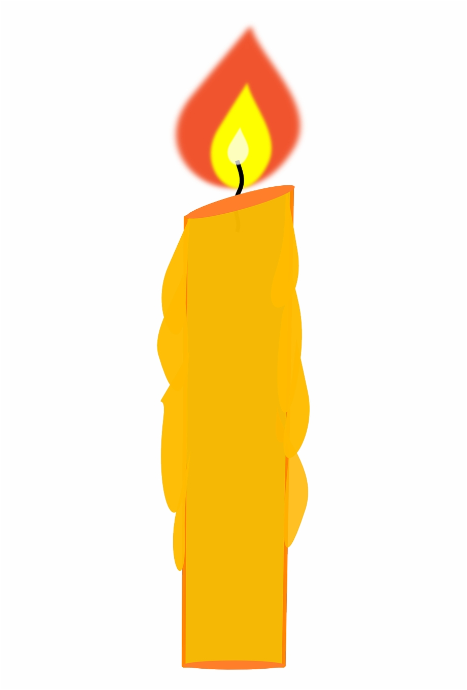 Candles clipart single. Candle flame fire heat