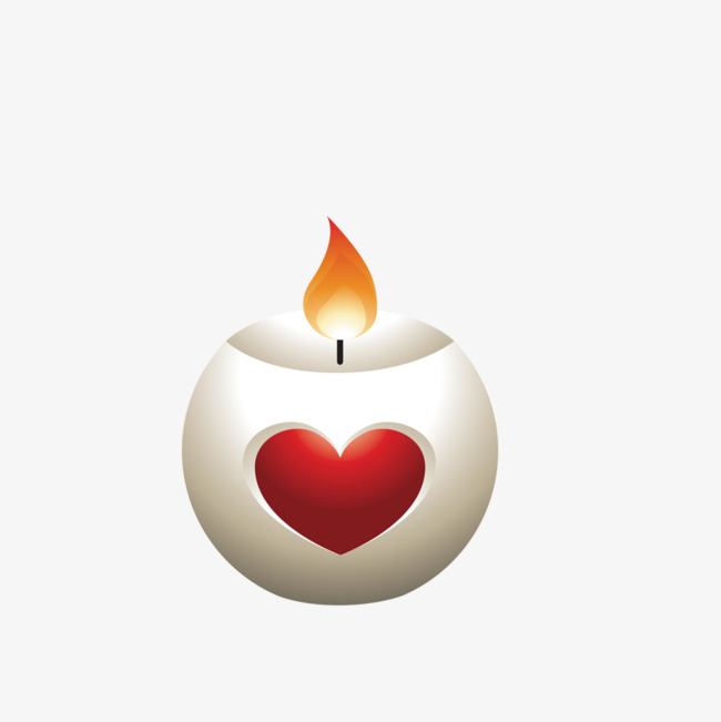 Candle clipart vector. Heart shaped flame png