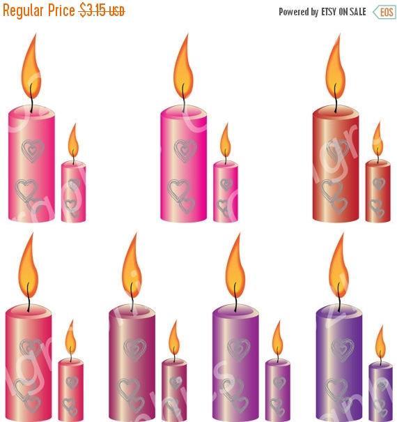 Candle clipart vector. Nov sale valentine clip