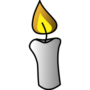 Vela cliparts of free. Candle clipart vector