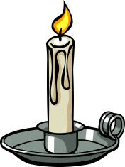 Candles clipart cartoon. Candle vector art illustration