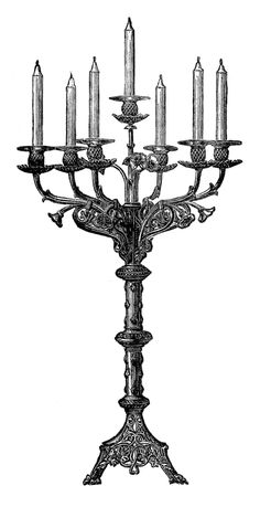 Candelabra clip art free. Candles clipart victorian