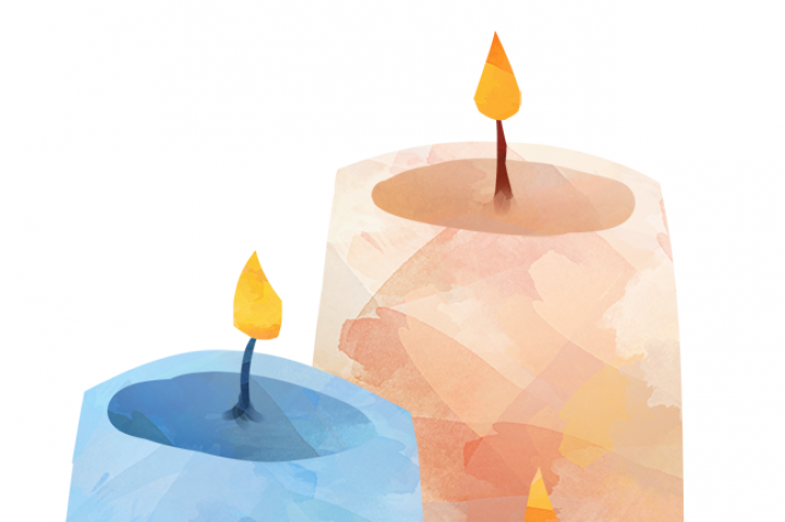 Candles clipart watercolor. By digitalartsi thehungryjpeg com