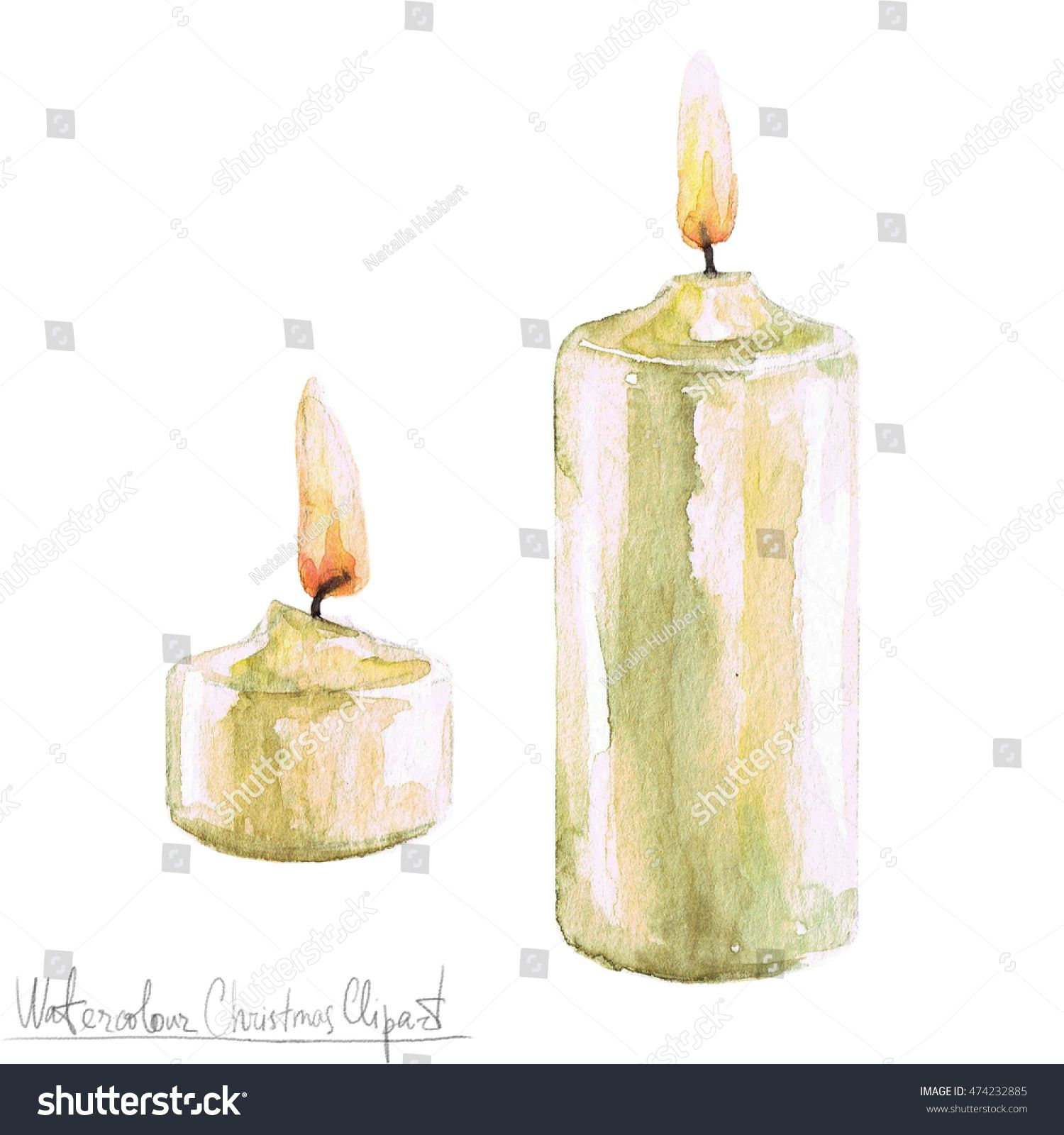 Candles clipart watercolor. Christmas yahoo image search