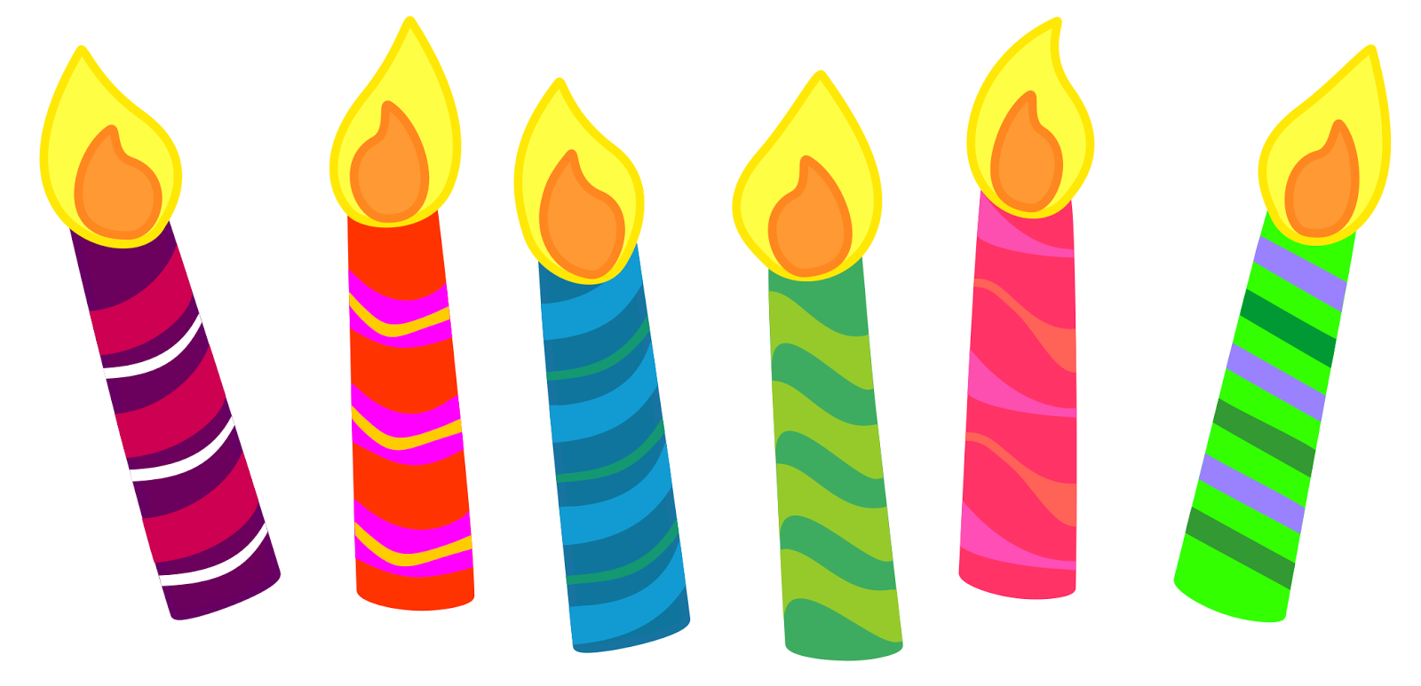 Free large images cards. Candles clipart