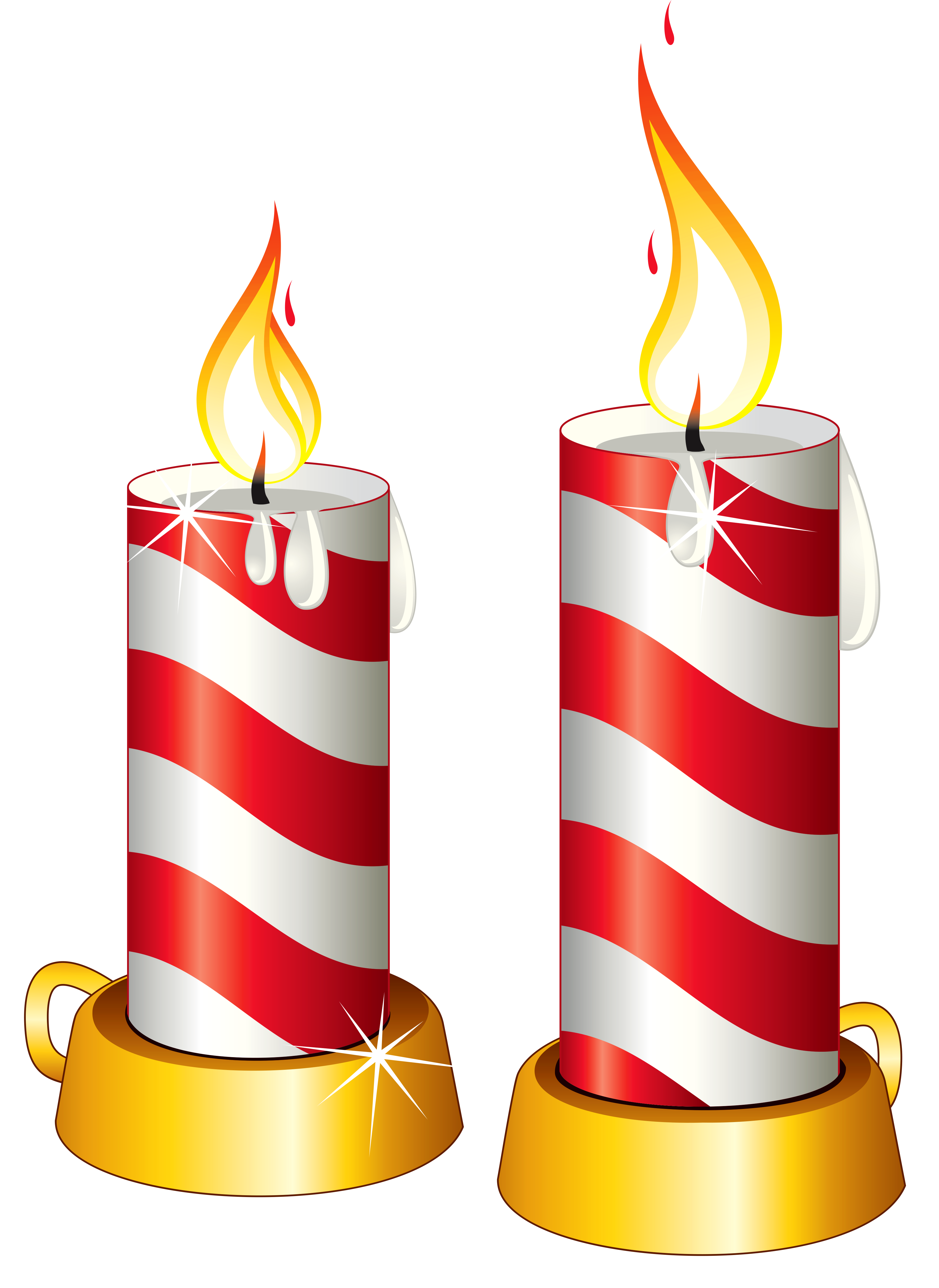 Candles clipart. Transparent christmas png gallery