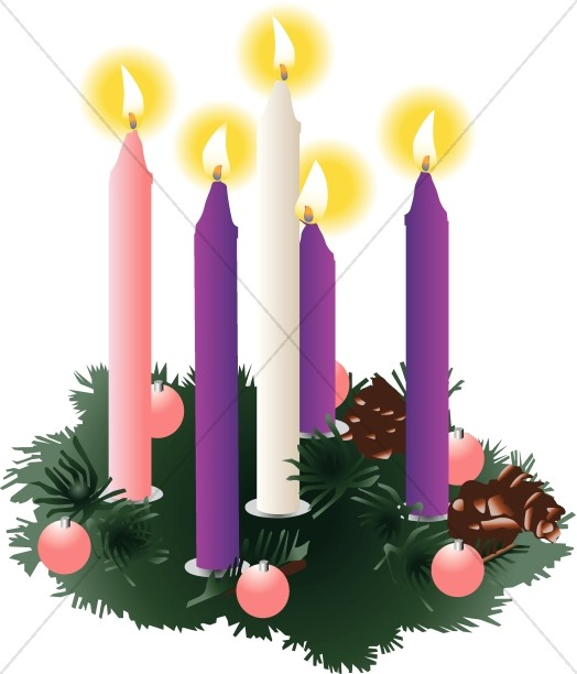 Christmas clipart candle. Candles advent
