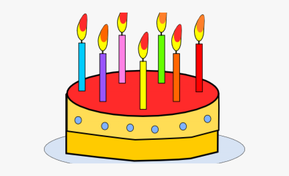 Candles clipart. Birthday years old cake