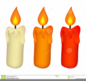 Christmas candles free images. Candle clipart
