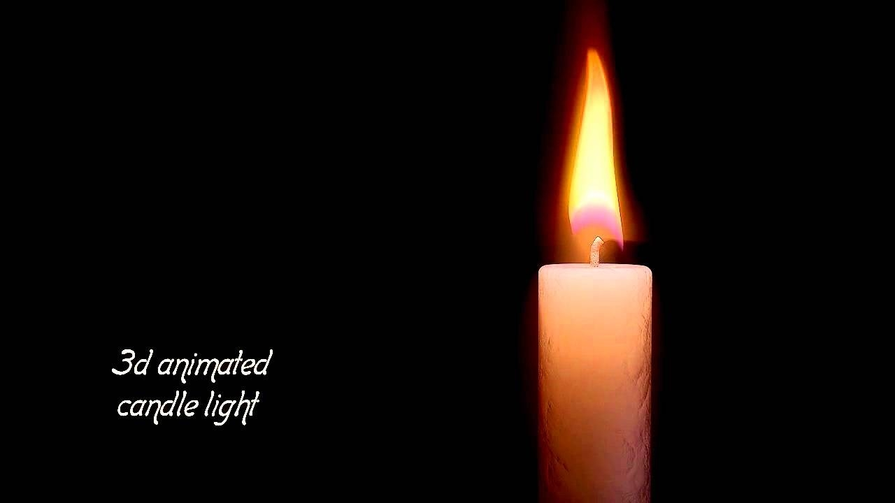 Moving candle pencil and. Candles clipart animated