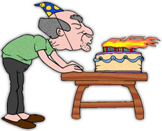 Birthday graphics free blowing. Candles clipart animated