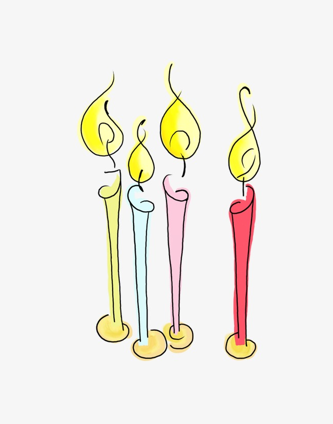 Pretty creative color candle. Candles clipart beautiful