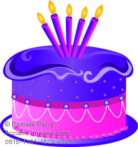 Clip art illustration of. Candles clipart birthday cake