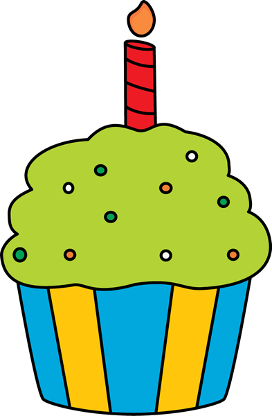 Candles clipart birthday cupcake. Clip art image cupcakee