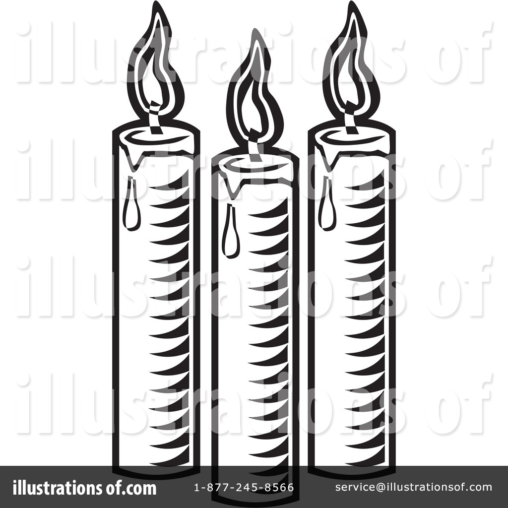 Candles clipart black and white. Great candle clip art