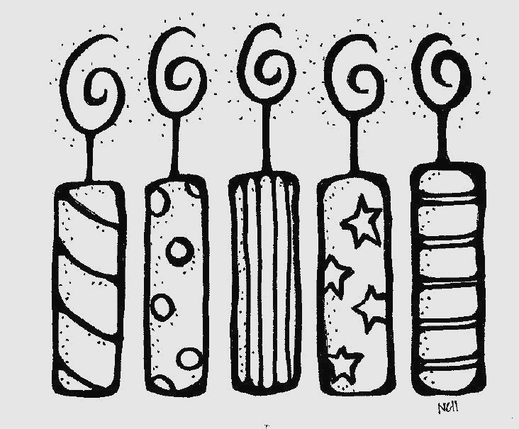 Beautiful birthday candle gallery. Candles clipart black and white
