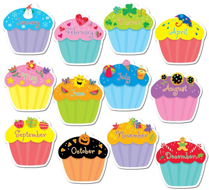 Candles clipart bulletin board. Cupcake cut out for