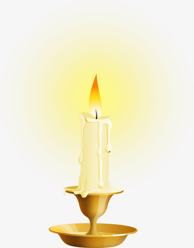 Burning combustion white png. Candles clipart candle flame