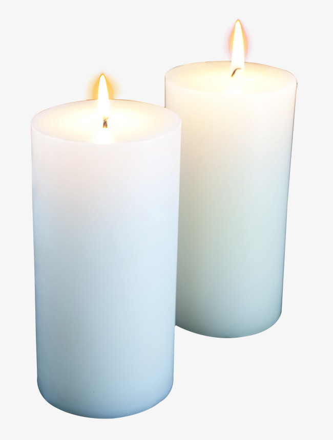 White burning a png. Candles clipart candle light