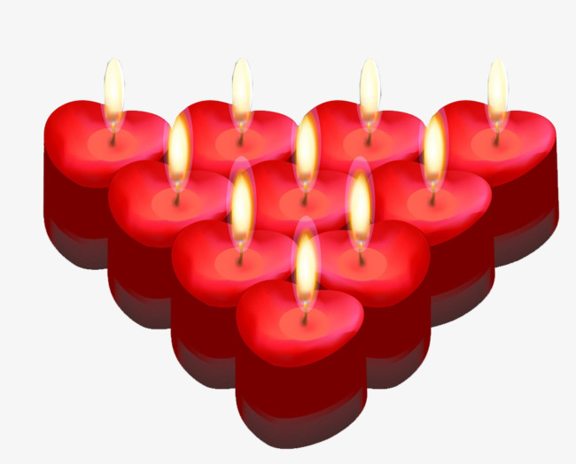 Candles clipart candle light. Heart red creative candlelight