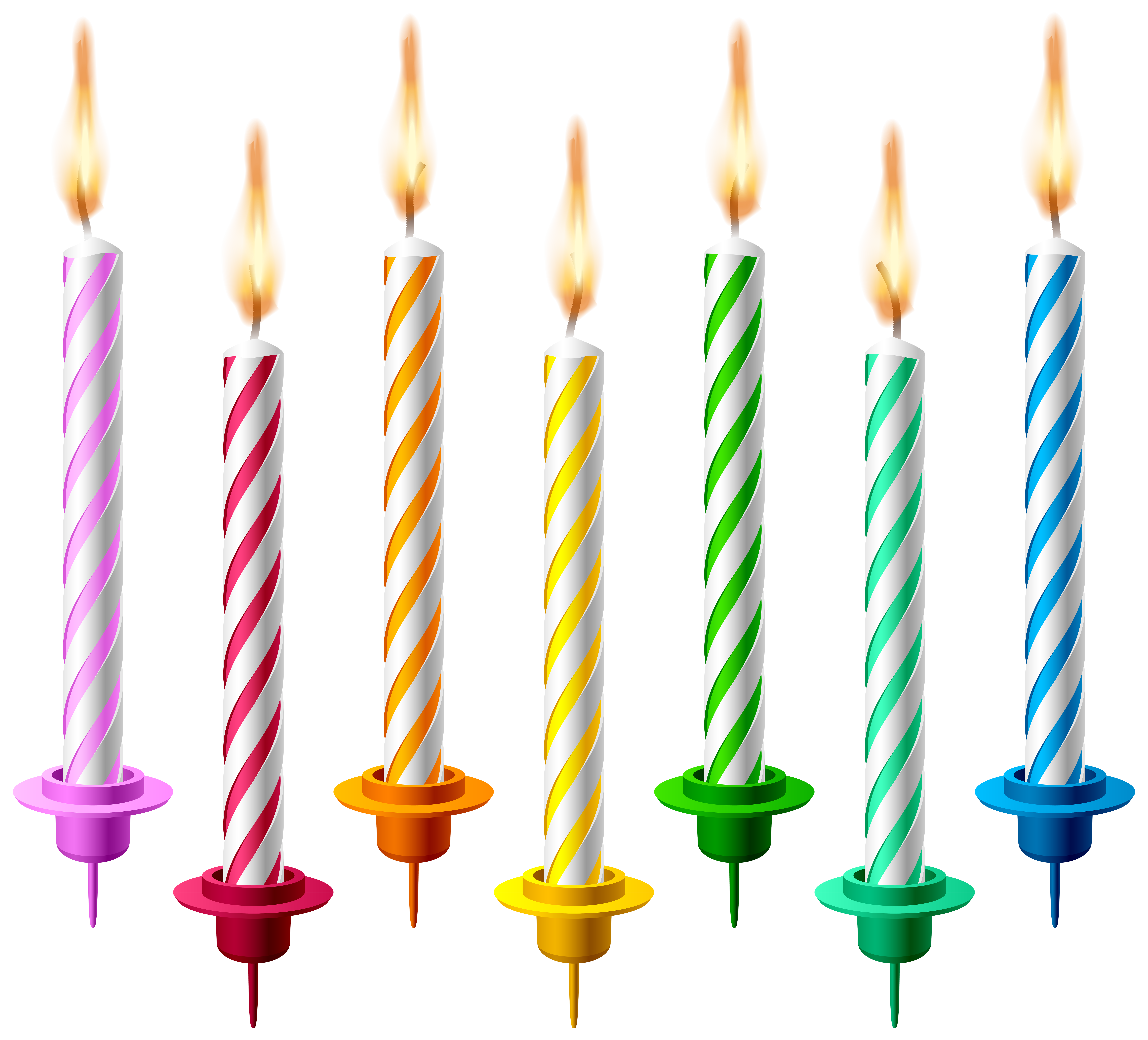 Birthday candles png transparent. Clipart easter candle