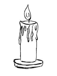 Cartoon candle gif alfavito. Candles clipart colored