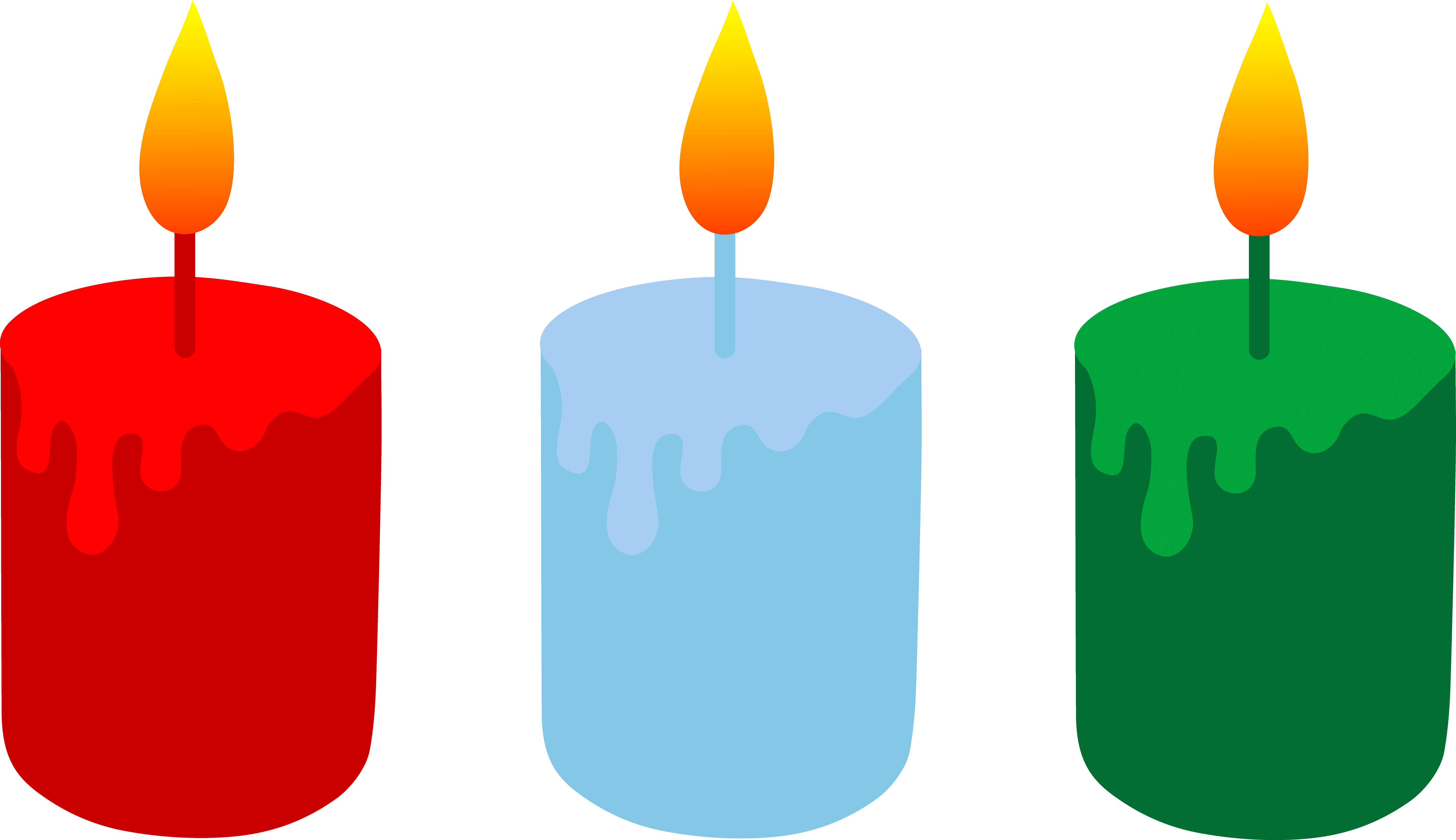 Candles clipart colored. Cliparts zone