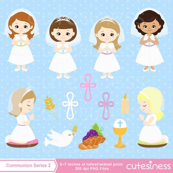 Girls first clip art. Candles clipart communion