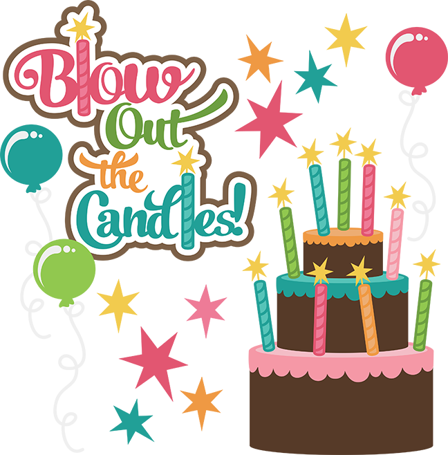 Candles clipart cute. Blow out the svg