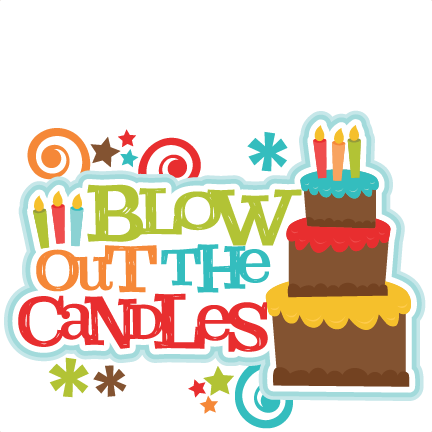 Candles clipart cute. Blow out the title