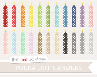 Candles clipart cute. Candle clip etsy birthday
