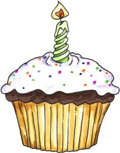 Candles clipart fancy. Birthday cupcake and candle