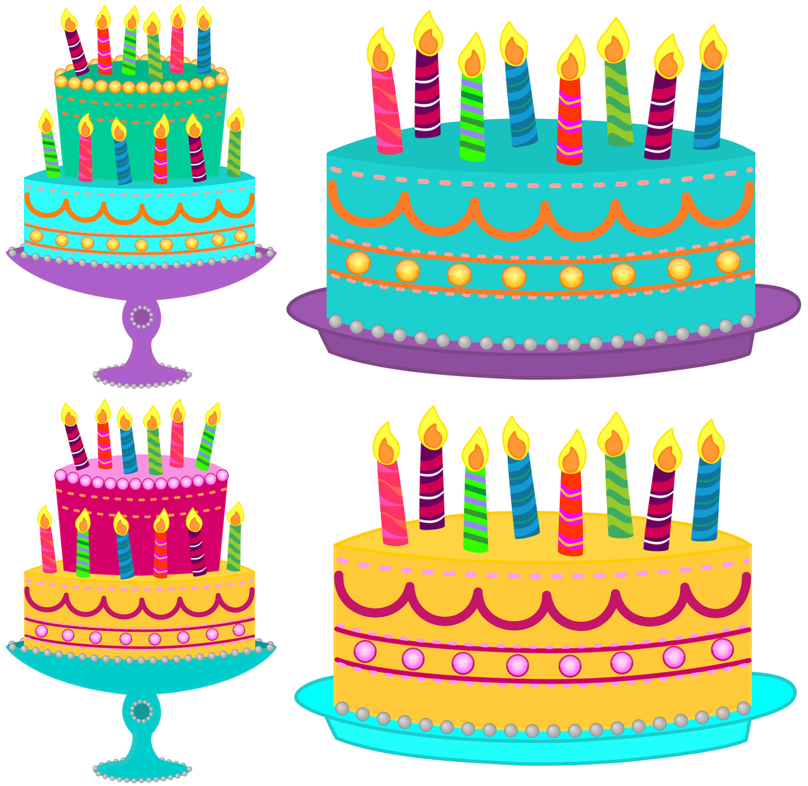 July cake blue with. Candles clipart happy birthday
