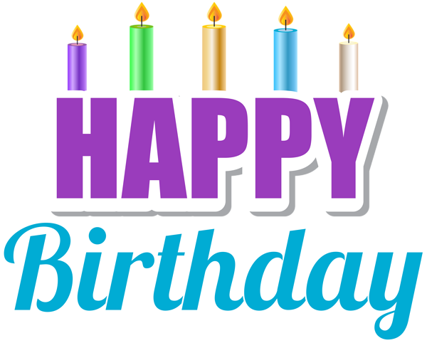 Candles clipart happy birthday. With png clip art
