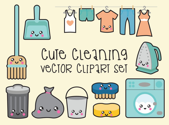 Candles clipart kawaii. Premium vector cleaning clip