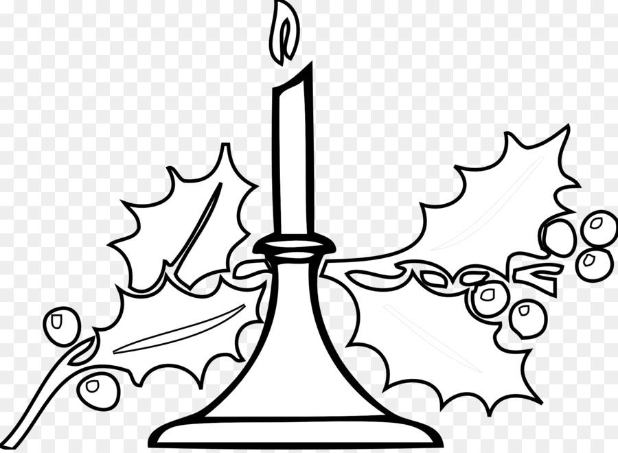 Candles clipart line art. Santa claus christmas black