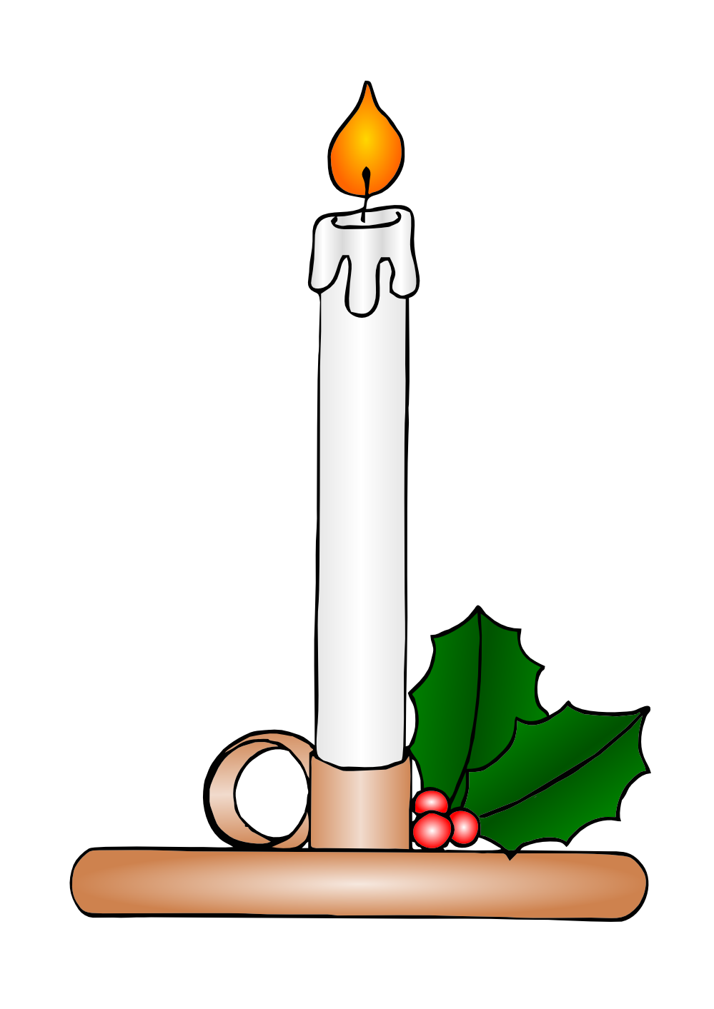 Pentecost clipart candle flame. Black color