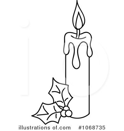 Candles outline