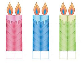Free a birthday cake. Candles clipart pdf