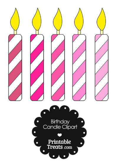 Birthday candle in shades. Candles clipart printable