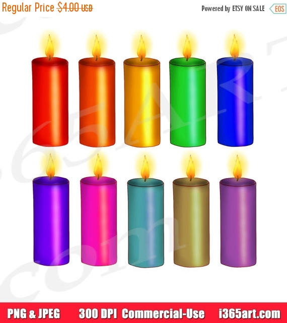 off birthday rainbow. Candles clipart printable
