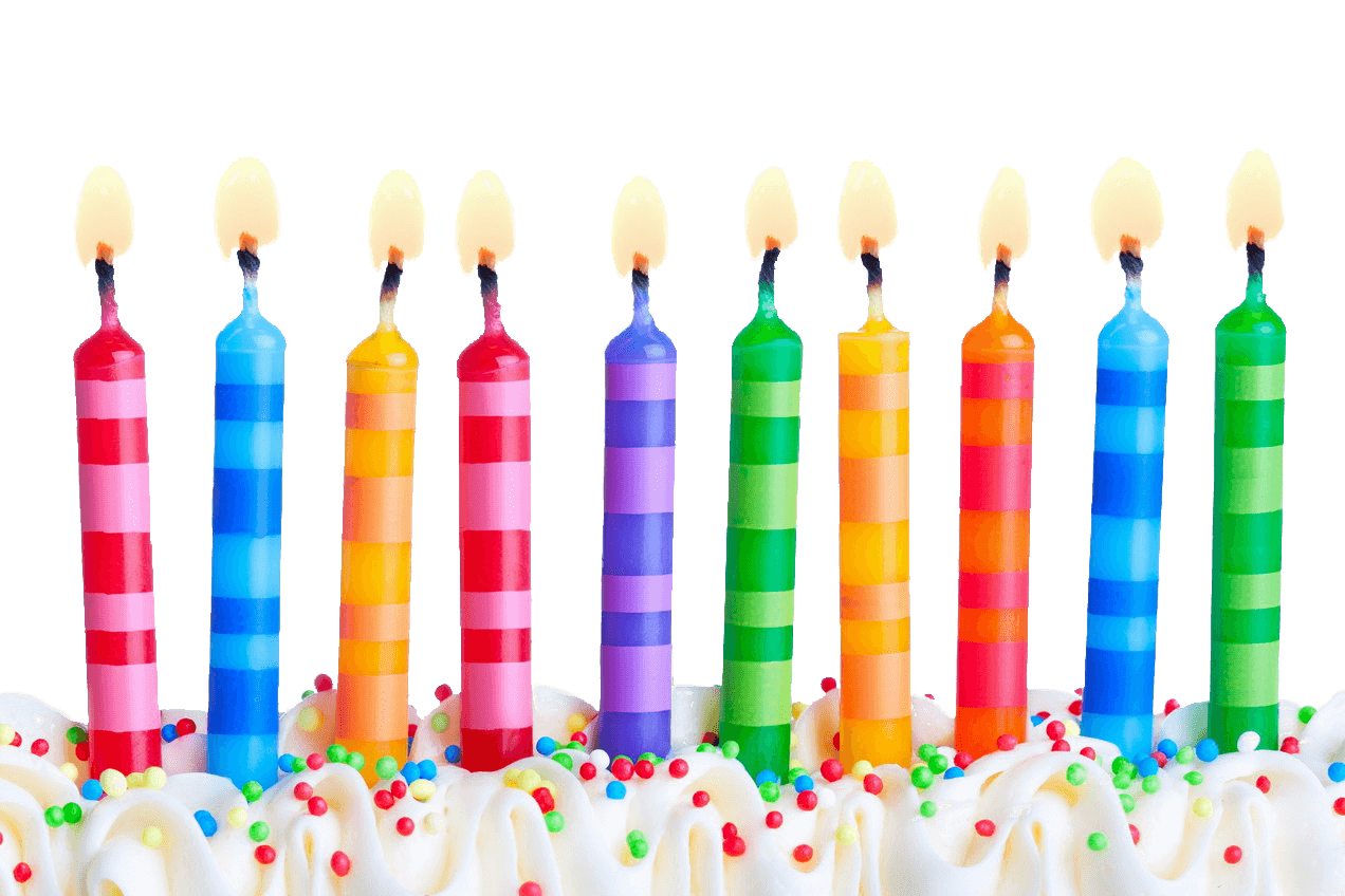 Birthday line png stickpng. Candles clipart transparent background