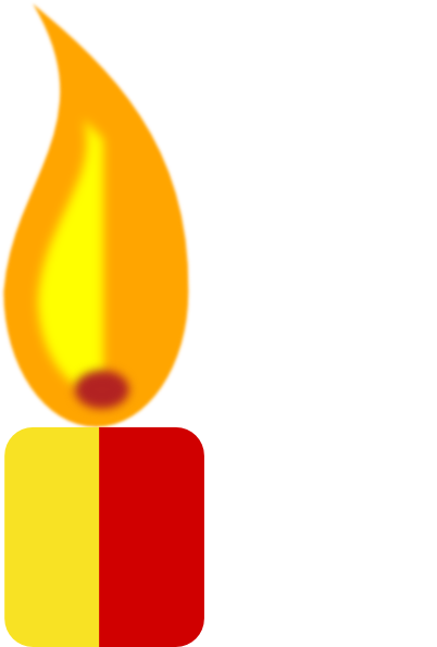 Candle clipart candle flame. Yellow clip art at