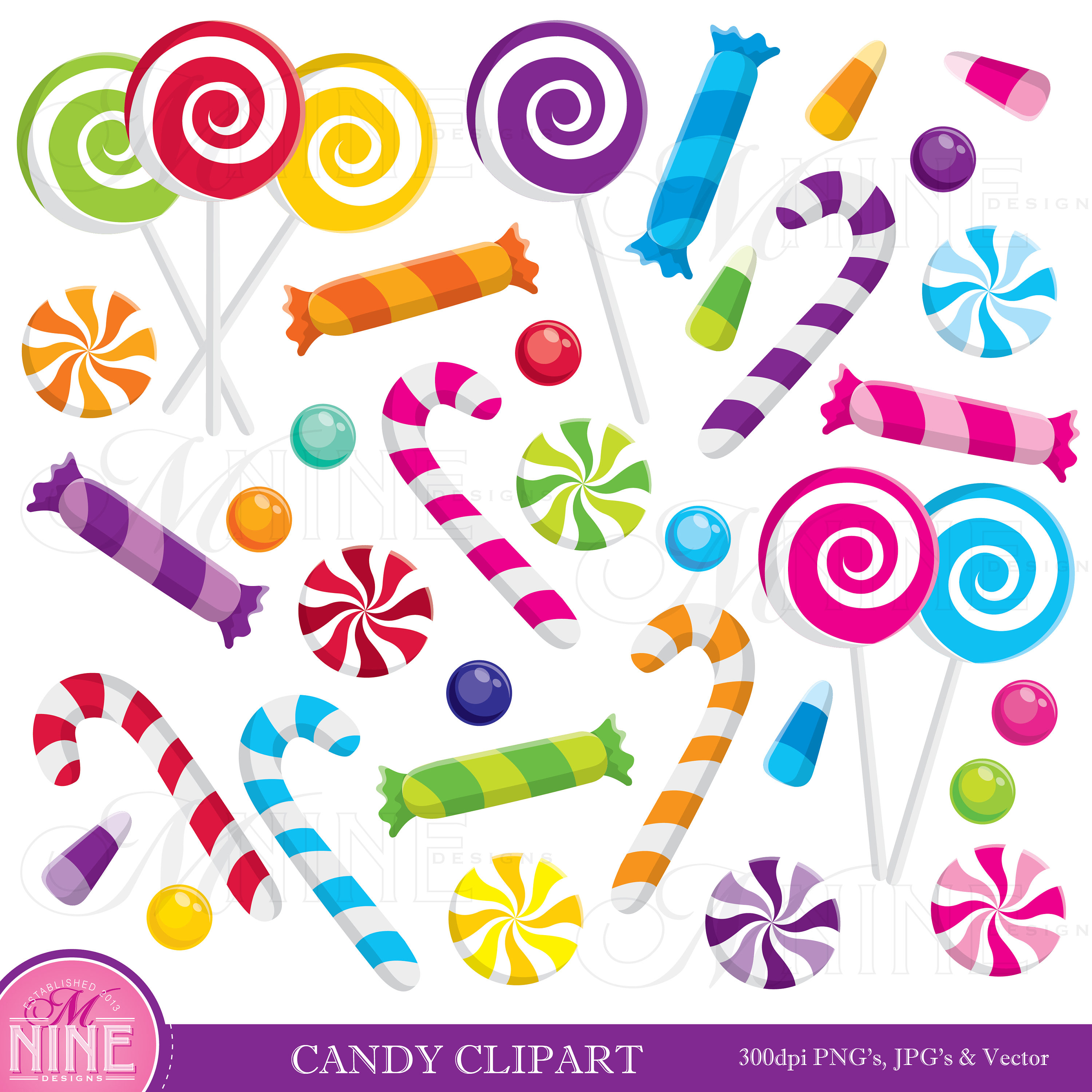 Clip art downloads theme. Candy clipart