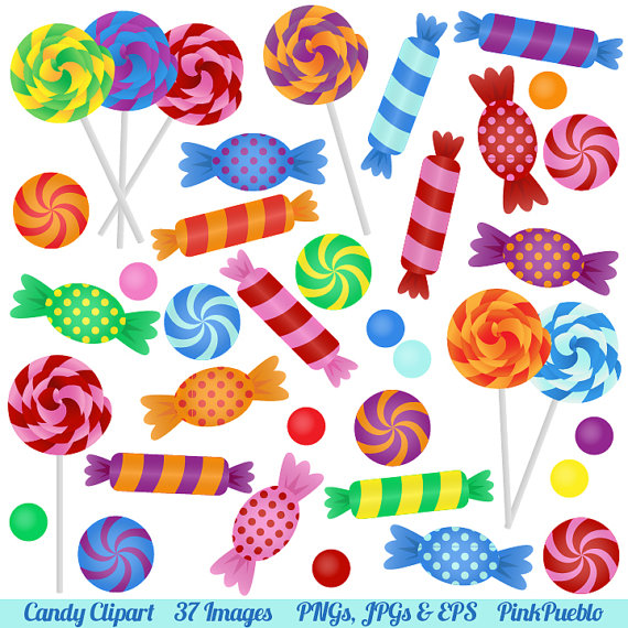 Candy clipart. Clip art with lollipops