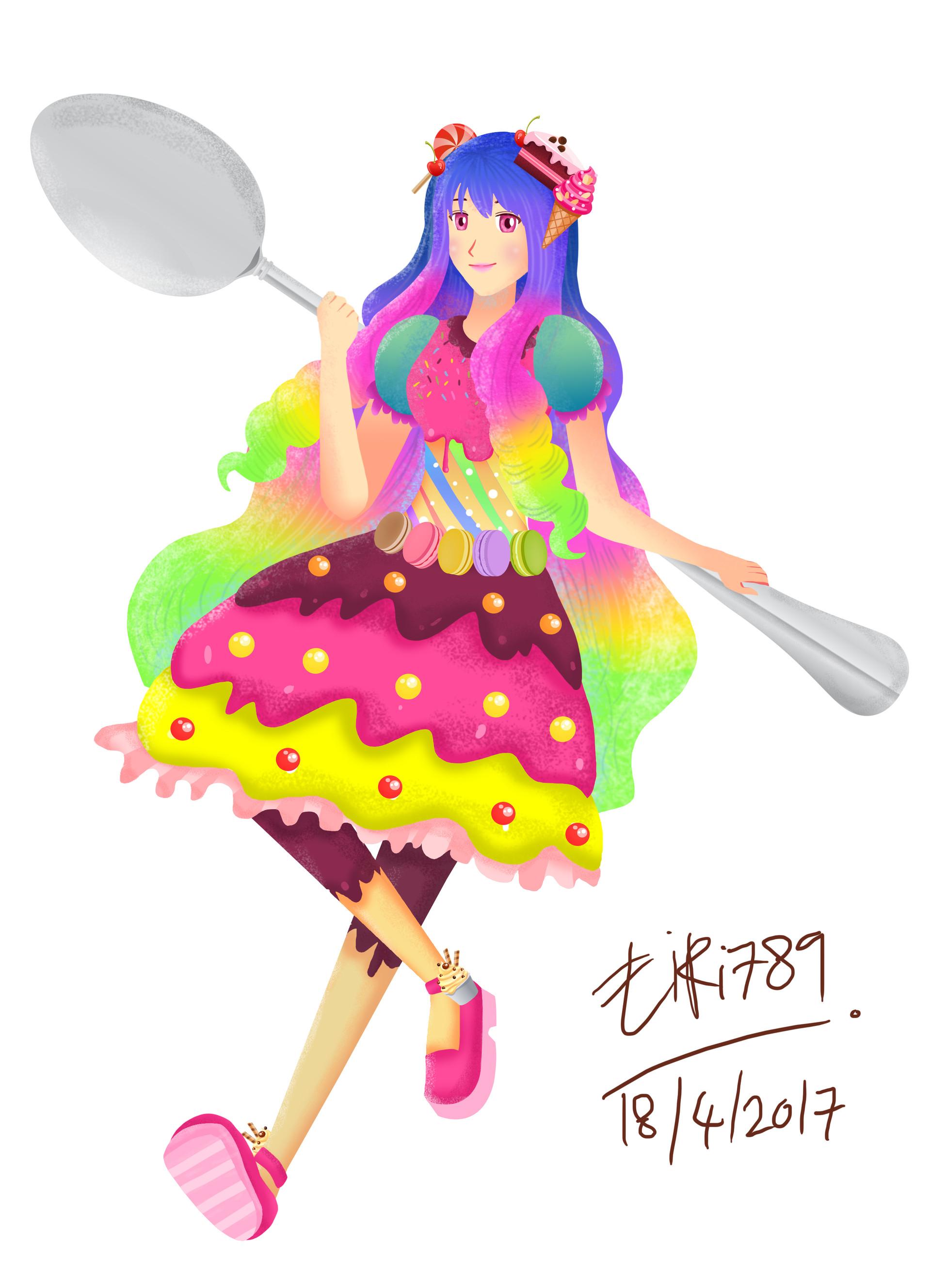 Fairy clipart candy. Artstation eiri yuki scroll