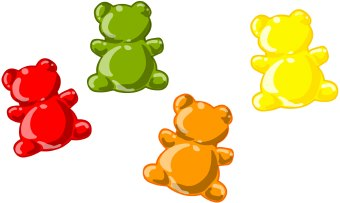 Worm . Candy clipart gummy bears