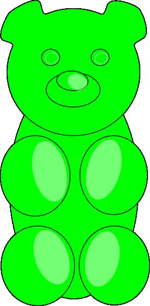 Candy clipart gummy bears. Bear outline clip art