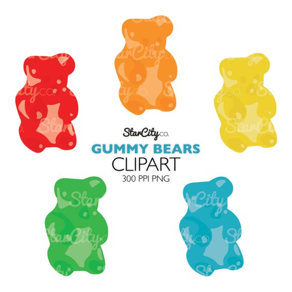 Bear clip art food. Candy clipart gummy bears